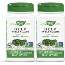 Natures Way, Kelp, Бурые водоросли, 600 мг, 100 капсул