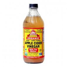 Bragg, Органический продукт, Яблочный уксус с первичной обработкой, Нефильтрованный, 473 мл