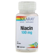 Bитамин Б3  Ниацин Vitamin B3 - Niacin SolarayBитамин В3 100 мг, 100капсул