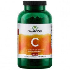 Витамин С - 1000 (Vitamin C - 1000)  Swanson (с шиповником) 250капс.