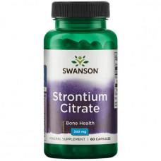 Стронций цитрат Swanson 340 мг, 60 капсул