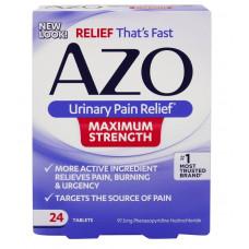 Azo, Облегчение боли органов мочеотделительной системы максимальная сила, 24 таб