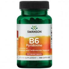 Пиридоксин, Витамин B-6 (100 мг) 100 капс.
