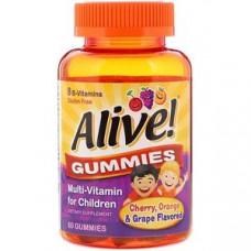 Мультивитамины для детей, со вкусом вишни, апельсина и винограда, Nature's Wa 60 жевательных конфет