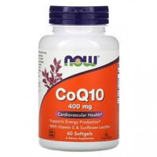 Now Foods, CoQ10, 400 мг, 60 мягких желатиновых капсул