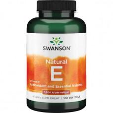 Витамин Е (Vitamin E) Swanson токоферолы Tocopherols 1000 Mix (100капc.), Swanson