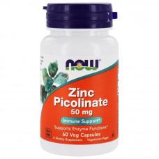 Цинк пиколинат NowFoods 50 мг, 60 таблеток