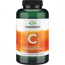 Витамин С 500 Vitamin C Swanson  500мг Swanson (с шиповником) 500 таб.
