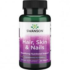 Волосы, Кожа и Ногти Swanson,  (Hair, Skin & Nails) 60 таб.