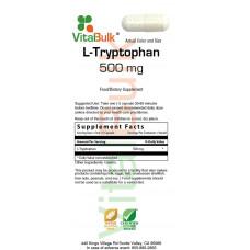 VitalBulk Триптофан (L-Tryptophan) 500 mg 100 Capsule