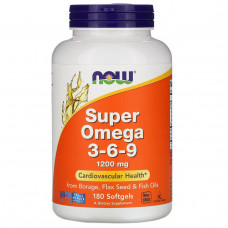 Now Foods, Супер Омега 3 - 6 - 9, 1200 мг., 90 капсул