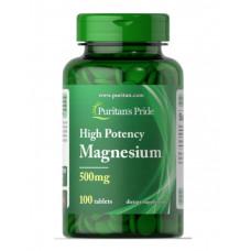 Магний Puritan's Pride 500 мг, 100 таблеток