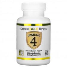 California Gold Nutrition, Immune4, средство для укрепления иммунитета, 60 капсул