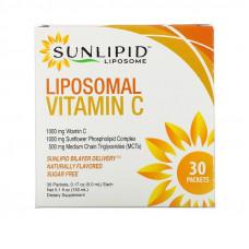 SunLipid, Липосомальный витамин C, с натуральными ароматизаторами, 30 пакетиков по 5,0 мл