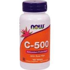 Витамин С 500 Vitamin C Now Foods  (с шиповником)  100таб.