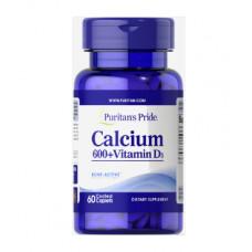 Карбонат кальция 600 мг + витамин D 125 МЕ, Puritan's Pride