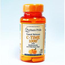 Витамин С - 1000 (Vitamin C - 1000) с биофлавоноидами и шиповником, Puritan's Pride