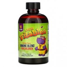 Vitables, Детская жидкая добавка для укрепления иммунитета, без спирта, апельсиновый вкус, 120 мл