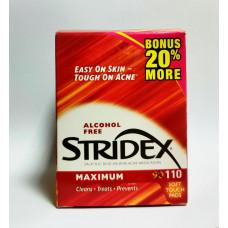 Средство от угрей максимальная сила без спирта Stridex 110 шт.