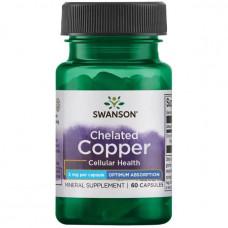 Медь хелат Swanson 2 мг, 60 капсул
