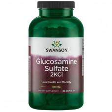 Глюкозамин сульфат, Glucosamine Sulfate 2KCl, Swanson,500 мг, 400 капсул