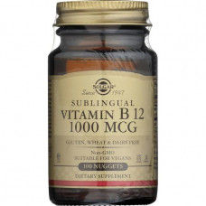 Витамин В12 метилкобаламин (Fully active B12 methylcobalamin) сублингвальный 1000mcg  Solgar