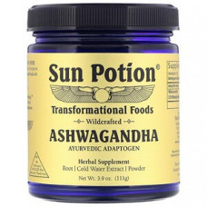 Sun Potion, Ашваганда, порошок из дикорастущего растения, 111 г