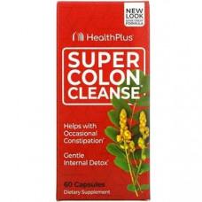Health Plus Inc., Super Colon Cleanse, средство для очистки кишечника, 500 мг, 60 капсул