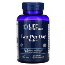 Мультивитамины Life Extension Две-На-День 60 таблеток