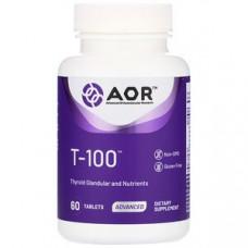 Advanced Orthomolecular Research AOR, T • 100, для щитовидной железы с питательными элементами, 60 таб.
