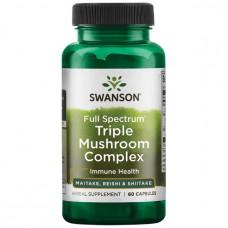 Комплекс тройных грибов полного спектра Swanson Premium 60капс.