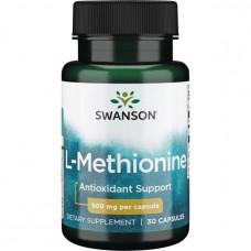 L-метионин Swanson 500мг. 30 капс.