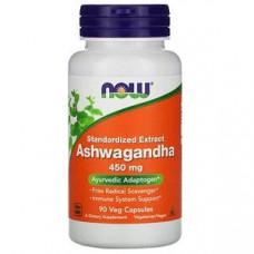 Ашваганда, стандартизованный Now Foods 450 мг, 90 растительных капсул