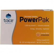 Электролиты - Микроэлементы Power Pak -Светло-оранжевый «шипучий» напиток со стевией 30 стиков