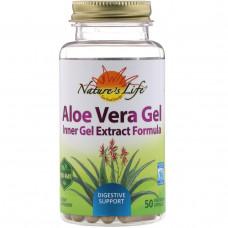 Natures Herbs, Гель алоэ вера, 50 вегетарианских капсул