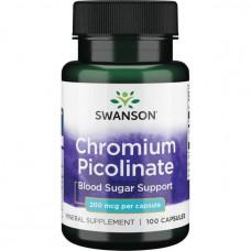Пиколинат хрома Swanson 200 мг, 100 капсул