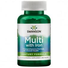 Мультивитамины с железом Swanson 130таб.