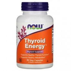 Thyroid Energy для Щитовидной железы Now Foods, 90 растительных капсул