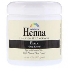 Rainbow Research, Хна, 100% растительная краска для волос и кондиционер, персидский черный, порошок 113 г