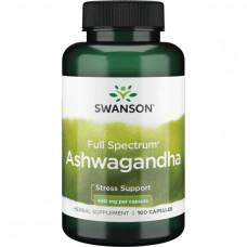Ашваганда полного спектра Swanson Premium 450мг. 100 капс.