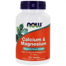 Кальций и магний Now Foods  1000/500мг. 100 таб. Calcium & Magnesium