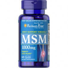 MSM органическая сера Puritan's Pride 1000 мг, 60 капсул