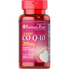 Коэнзим Q-10 200 мг (60капс.)  Puritan's Pride  пуританс прайд