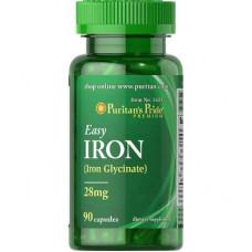 Железо с витаминами Iron Puritan's Pride 28 мг, 90 капсул