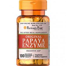 Папая энзимы Papaya Enzyme Original Puritan's Pride (100 таб. жевательных)