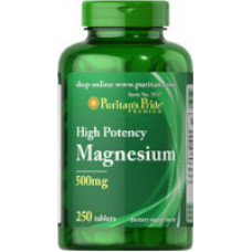 Магний Puritan's Pride 500 мг, 250 таблеток
