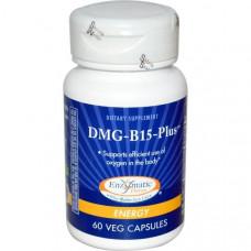 Enzymatic Therapy, DMG-B15+, энергия, 60 капсул на растительной основе