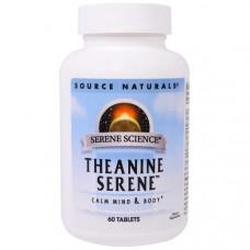 Source Naturals, Теанин Серен, 60 таблеток