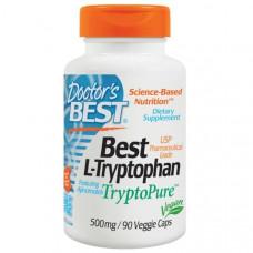 Doctors Best, Лучший L-триптофан, 500 мг, 90 растительных капсул