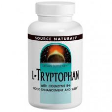 Source Naturals, L- триптофан, Коэнзим B6, 500 мг, 60 таблеток